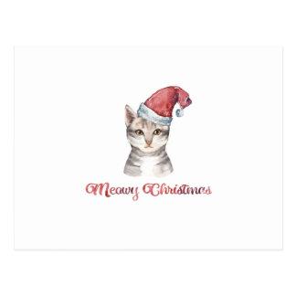 Meowy Weihnachtsentwurf für Katzen-Liebhaber Postkarte