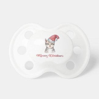 Meowy Weihnachtsentwurf für Katzen-Liebhaber Schnuller