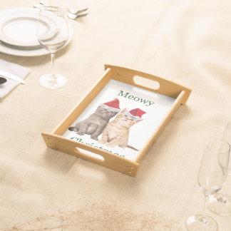 Meowy Weihnachtskätzchen-Serviertablett Serviertablett