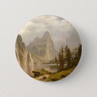 Merced Fluss, Yosemite-Tal Runder Button 5,7 Cm