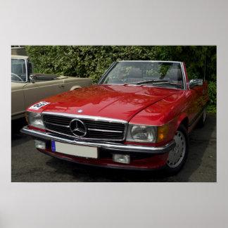Mercedes Roadster Poster