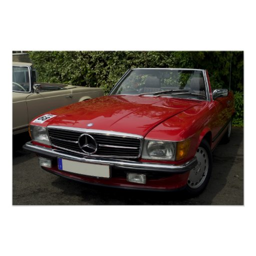 Mercedes Roadster Posterdrucke