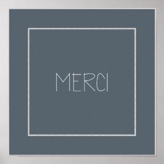 MERCI - Danke Poster