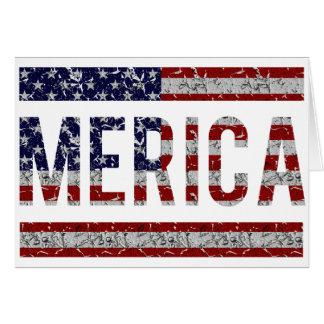 MERICA - Amerikanische Stolz-Jargon USA-Flagge Karte