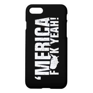 'Merica Fck ja! Patriotischer Amerikaner iPhone 8/7 Hülle