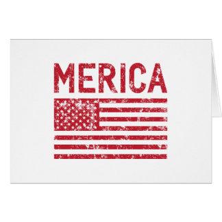 Merica Flagge Karte