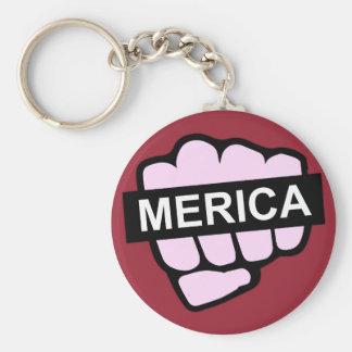 Merica in Ihrem Gesicht Schlüsselanhänger