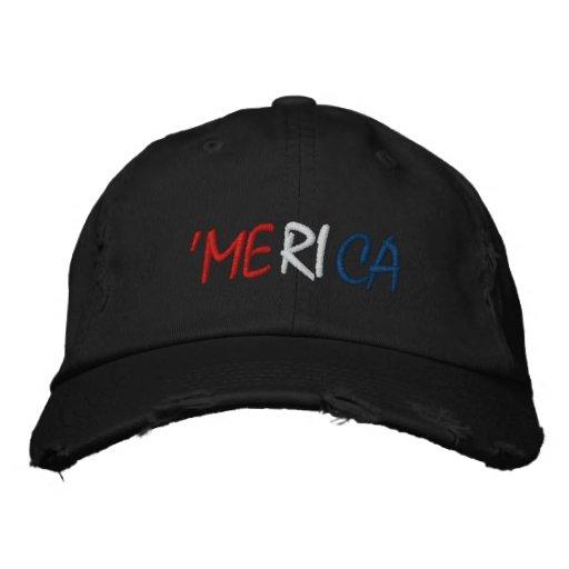 'Merica - roter weißer und blauer amerikanischer S Bestickte Caps