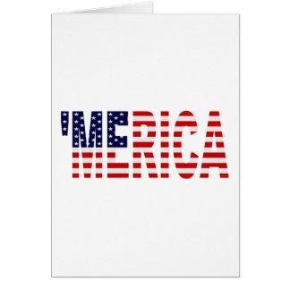 'MERICA US Flaggen-Gruß-Karte Karte