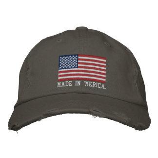 'MERICA USA spielt 'n-Streifen FLAGGE Stickerei Bestickte Caps