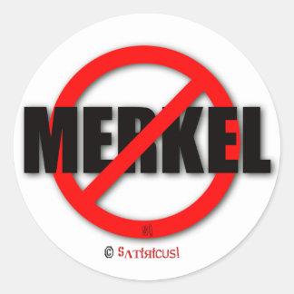 Merkel MUSS weg! Runder Aufkleber