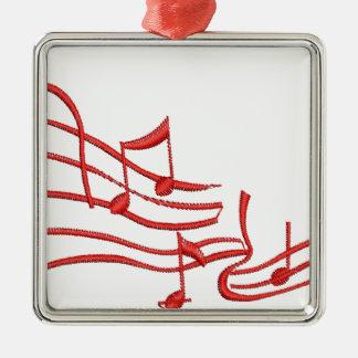 merkt Nachahmung der Stickerei Silbernes Ornament