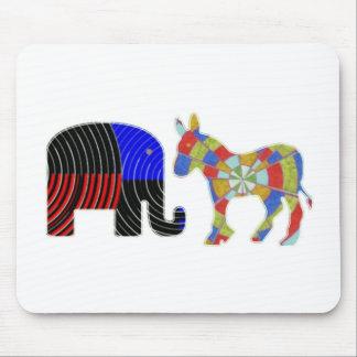 Merkwürdige Bett-Gefährten: Esel POLITIK Elefant-n Mauspads