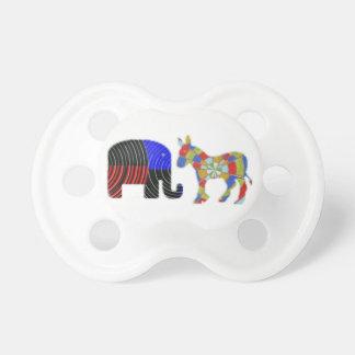 Merkwürdige Bett-Gefährten: Esel POLITIK Elefant-n Schnuller