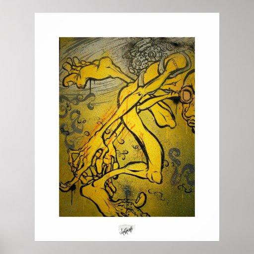 Merkwürdige Engel mögen Diebe Posterdruck