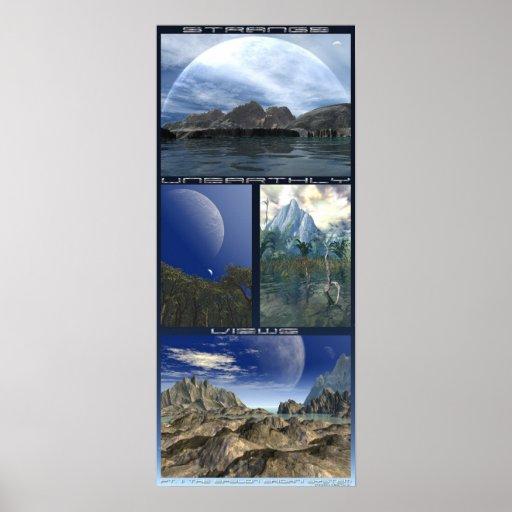 Merkwürdige unirdische Ansichten: EpsilonEridani S Plakatdruck