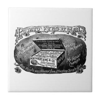 Merkwürdige Vintage Kartoffelanzeige Keramikfliese