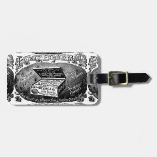 Merkwürdige Vintage Kartoffelanzeige Kofferanhänger