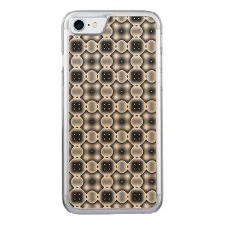 Merkwürdiges rundes Karo-Schwarzweiss-Muster Carved iPhone 8/7 Hülle