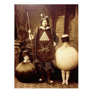 Merkwürdiges Vintages viktorianisches Kostüm-Party Postkarte
