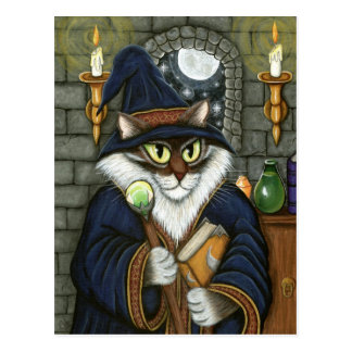 MERLIN-Magier-Zauberer-Katzen-magische Postkarte