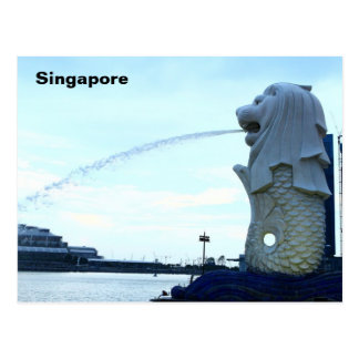 Merlion in Singapur Postkarte