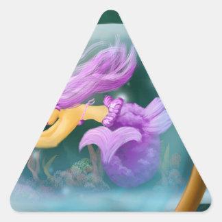 MErmaid Dreieckiger Aufkleber