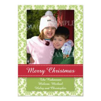 Merrry WeihnachtsFoto-Schablone Groupon Karte