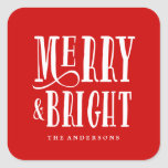 Merry & Bright   Gift Tag Stickers