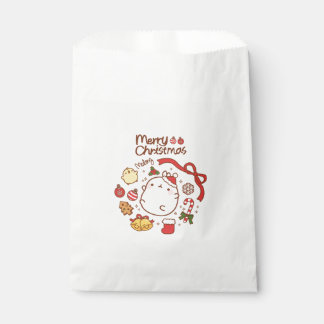 Merry Christmas and happy new drawings year bag Geschenktütchen