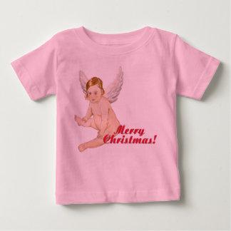 Merry Christmas, Frohe Weihnachten,Angel Baby T-shirt