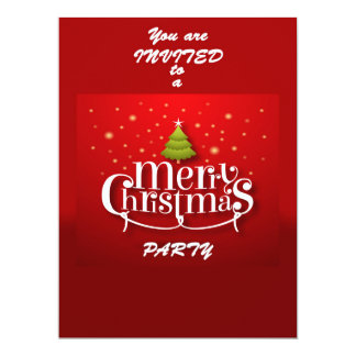 Merry Christmas Party Invitation 16,5 X 22,2 Cm Einladungskarte