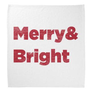 Merry& heller roter Weihnachtstext Kopftuch