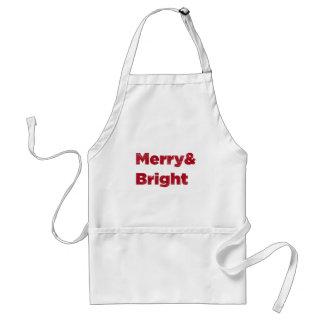 Merry& heller roter Weihnachtstext Schürze