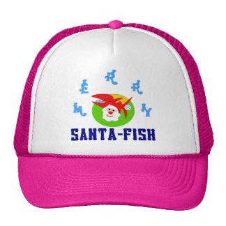 ♫♥Merry Sankt-Fische unglaublich witzig Fernlastfa Retromützen