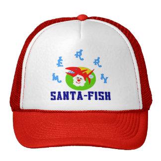 ♫♥Merry Sankt-Fische unglaublich witzig Fernlastfa Trucker Caps