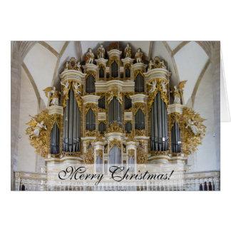 Merseburg Kathedralenorgan Weihnachtskarte Karte