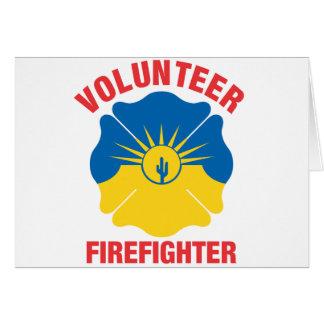 MESA, AZ Flaggen-Freiwillig-Feuerwehrmann-Kreuz Karte