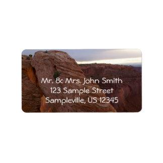 MESA-Bogen II von Canyonlands Nationalpark Adressaufkleber