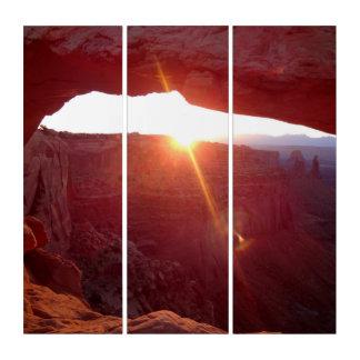MESA-Bogen-Sonnenaufgang Triptychon