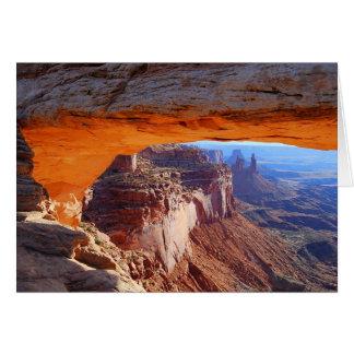 MESA-Bogen-Sonnenaufgang-Utah-Karte Karte