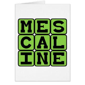 Mescalin, halluzinogenische Droge Karte