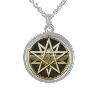 Mesopotamische Einheits-Halskette Sterling Silberkette
