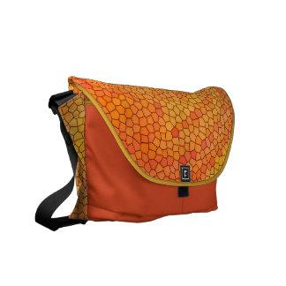 Messenger Bag/Kuriertasche medium 'Orange Mosaic' Kuriertaschen