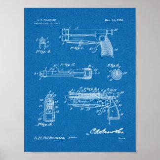 Messer-Gewehr-Patent-Kunst 1924, die Druck Poster