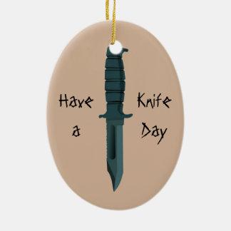 Messer haben einen Messer-Tag Keramik Ornament