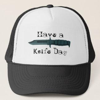 Messer haben einen Messer-Tag Truckerkappe