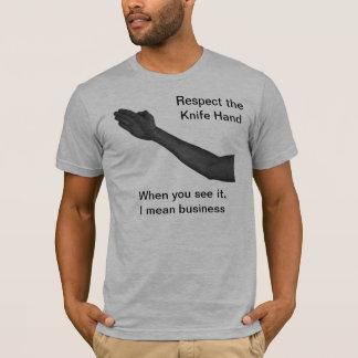 Messer-Hand T-Shirt