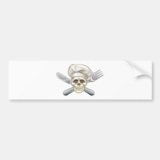 Messer-und Gabel-Piraten-Koch Autoaufkleber