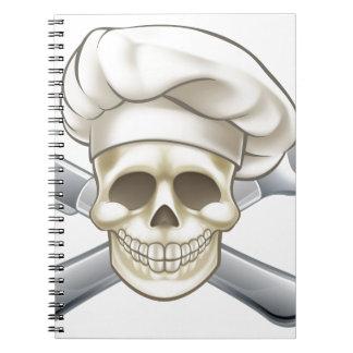 Messer-und Gabel-Piraten-Koch Notizblock